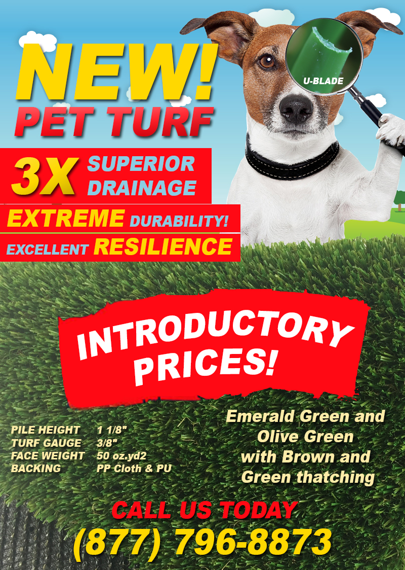 syntheticgrass New PET TURF with 3X Drainage Capacity Has Arrived!